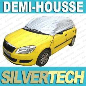 demi housse voiture demi bache protection auto protection halfcover en polyester. Black Bedroom Furniture Sets. Home Design Ideas