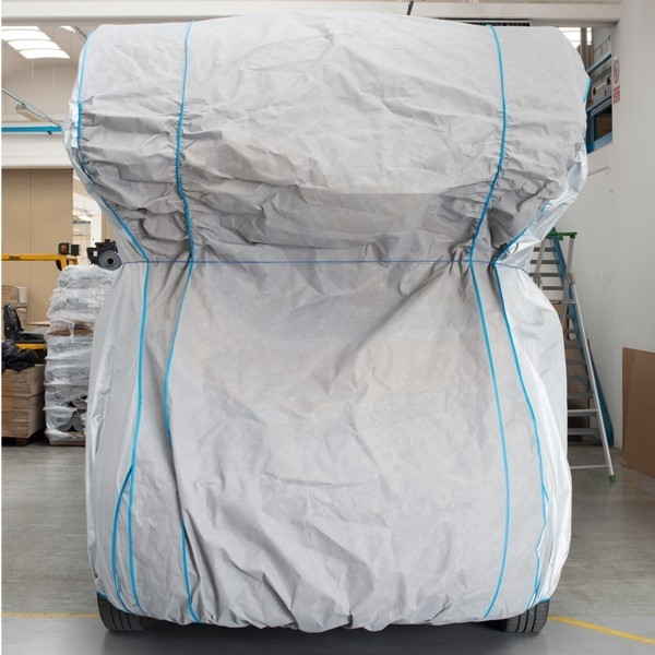 Housse bache protection camping car int grale tyvek top cover for Housse siege camping car