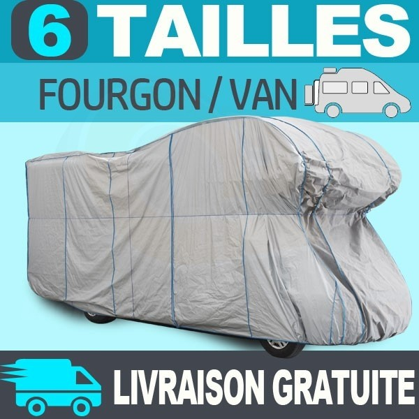 Housse bache protection fourgon van tyvek top cover for Housse tyvek camping car
