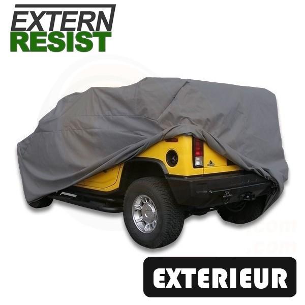 7f96cda17326a Housse de protection auto extérieure semi-sur-mesure en pvc gris Extern  Resist pour ...