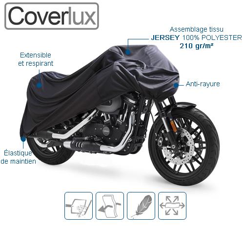 housse de protection moto intérieure COVERLUX
