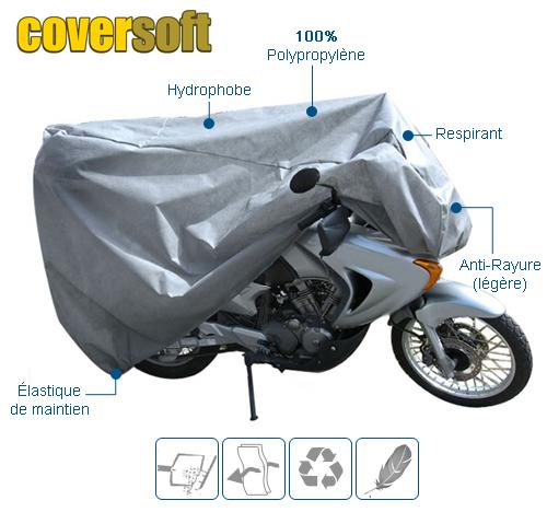 housse de protection moto intérieure COVERSOFT
