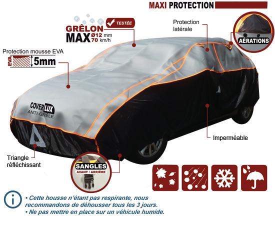 B che protection voiture anti gr le en n opr ne housse auto taille m - Bache de protection voiture ...
