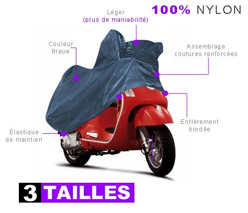 Housse protection moto impermeable en nylon bache for Bache moto exterieur