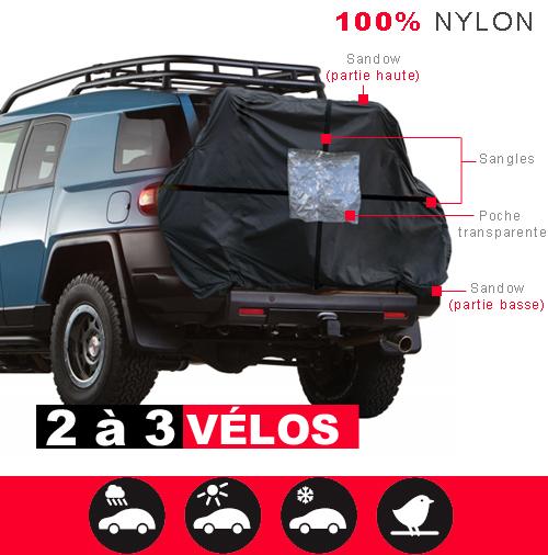 protection vélos derrière camping car