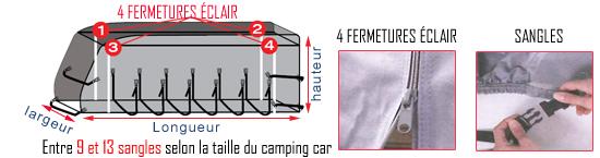 mesure bâche camping car