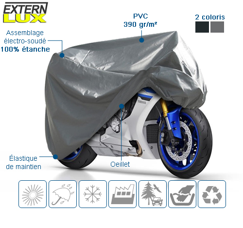 housse de protection moto en PVC EXTERNLUX