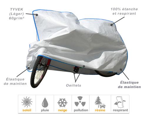 f523ee350f5e4 Housse de protection pour velo - Bache de protection exterieure et ...
